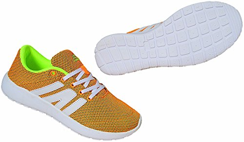 Herren Freizeit Schuhe Sneaker Gr.41 - 46 Art.-Nr.1739 orange-grün