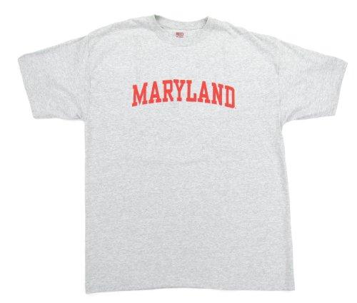 (Maryland Terrapins Wordmark T-Shirt - Grey (X-Large))