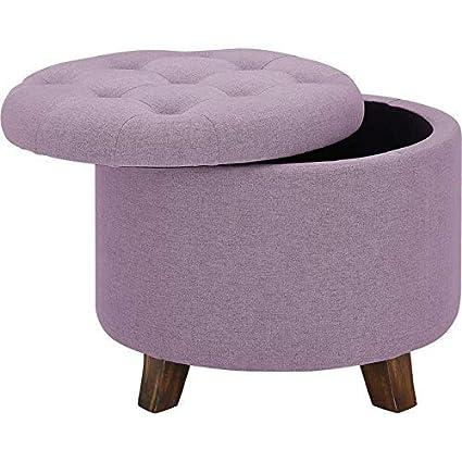 Awesome Amazon Com Oadeer Home D7954 Storage Ottoman Plum Kitchen Theyellowbook Wood Chair Design Ideas Theyellowbookinfo