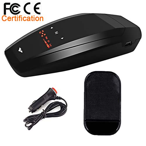 Radar Detector-Car Speed Mobile Laser Radar Detector, City/Highway Mode Radar Detectors for Cars, Voice Alert and Car Speed Alarm System with 360 Degree Detection and Bright LED Display(FCC Approved)