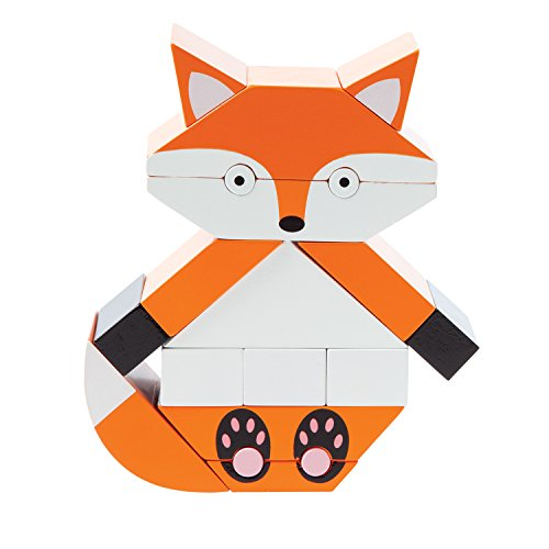 Fox Block (Manhattan Toy Red The Fox Magnetic Wooden Stacking Block Puzzle)