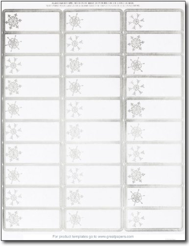 Silver Foil Snowflake Address Labels / Gift Tags - 120 Labels ()