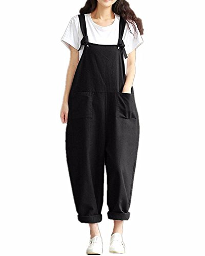 e6c0f7accde Jual Hulaha Womens Cotton Plus Size Overalls Baggy Bibs Jumpsuits ...