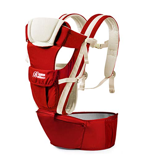 SIX-Position, 360° Ergonomic Baby & Child Carrier,All Seasons Baby Carrier, Comfortable Multi-Position Carrying for Infants Babies Toddlers,Red ACEDA