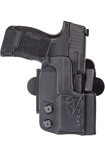"COMP-TAC.COM International Holster S&W - MP M1.0, M2.0, 5"" 9mm/40/45 Pro/CORE - Left - Black (Belt, Paddle, Drop Offset)"
