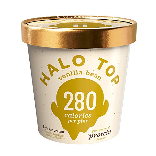 Halo Top Vanilla Bean Ice Cream,, 16 Ounce (Pack of 8)