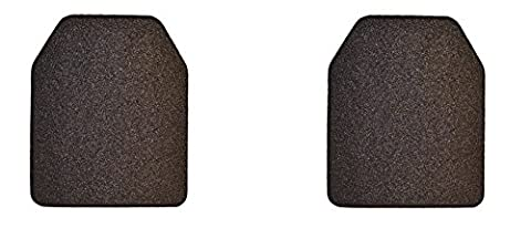 Total of 2 bullet and knife resistant personal protection plates (Black Shooter's Cut, 11