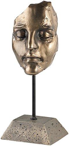 Carlo Milano Schlafendes Frauen-Gesicht, Kunstharz-Guss in Bronzeoptik