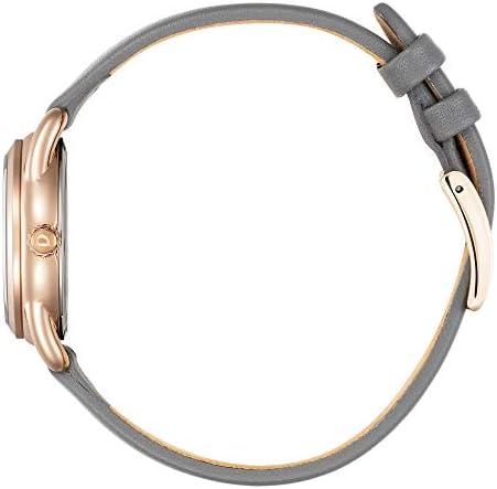 Citizen Women's Drive Stainless Steel Quartz Leather Calfskin Strap, Gray, 14 Casual Watch (Model: FE1218-05H) WeeklyReviewer