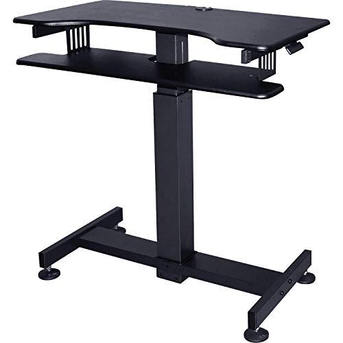 Lorell LLR82016 Standing Desk Mobile Workstation Black