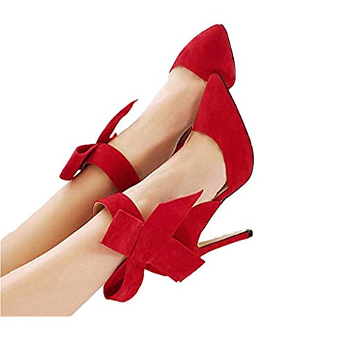 Sandals for Women,CUCAMM Flat Sandals imported summer sandals in July, promotional offers, big sale, continuous surprise, summer Flat sandals for women Pumps With A Big Bow Bow Tie With Sharp Toe Stilettos Plus Size Shoes
