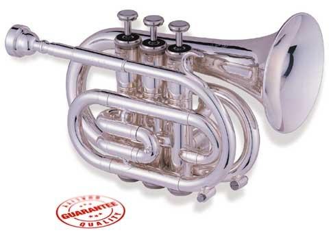 Jupiter 516 Silver Plated Pocket Trumpet