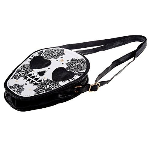 TOOGOO(R) Donna Mini borsa personalizzata del messaggero Crossbody carino capo del cranio Borsa a tracolla