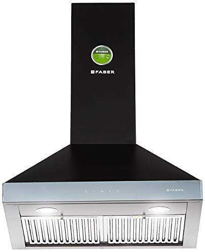 Faber 60 cm 1095 m³/hr pyramid Kitchen Chimney (Hood Topaz Smart 3D T2S2 BK TC LTW 60, Baffle Filter, Touch Control, Black)