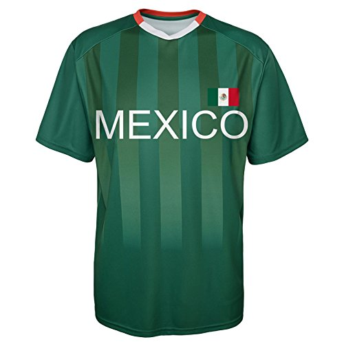 Mexico Tee World Cup (World Cup Soccer Mexico Federation Jersey Short Sleeve Tee, Small (8), Dark Green)