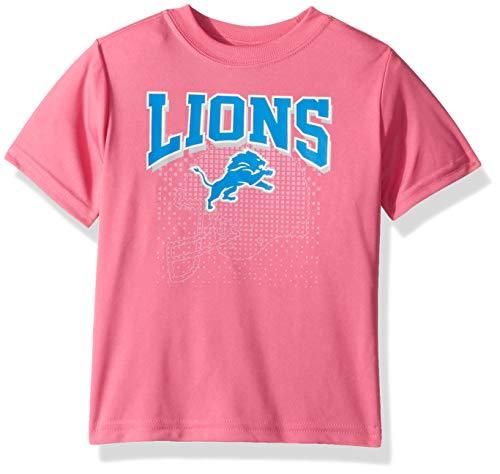 NFL Detroit Lions Girls Short-Sleeve Tee, Pink, 4T