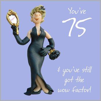 75th Birthday Female Greeting Card One Lump Or Two Range Holy Mackerel Cards