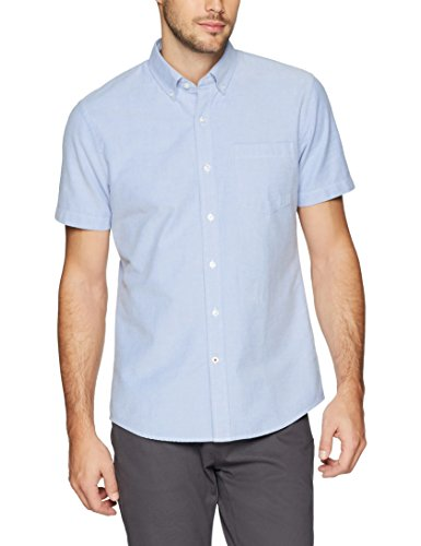 Goodthreads Men's Standard-Fit Short-Sleeve Solid Oxford Shirt