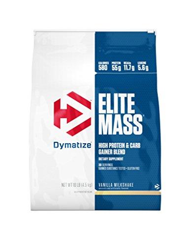 - Dymatize Elite Mass Hi-Protein Muscle Gainer, Vanilla Milkshake, 10 lbs