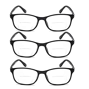 776c178154 Bifocal Reading Glasses 3 Pairs Great Value Stylish Spectacles Men and  Women Office Home Eyeglasses Readers