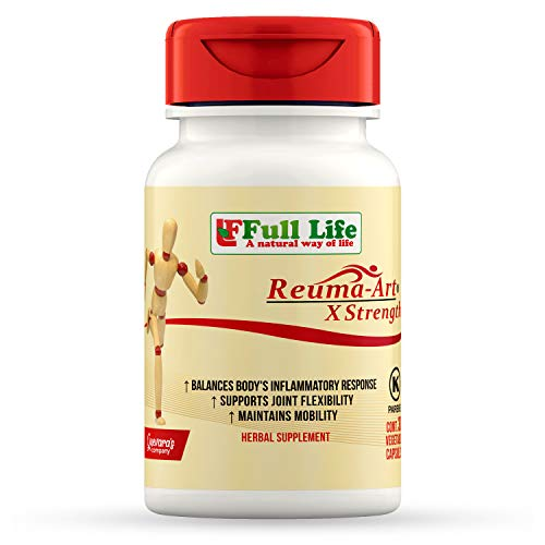 Full Life Reuma-Art X Strength - 30 Veggie Capsules - Extra Strength & Fast Acting Anti-Inflammatory - Joint Pain Relief Supplement (Best Vegetables For Joint Pain)