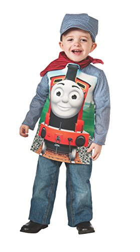 Rubies Thomas and Friends: Deluxe James The Red Engine and Engineer Costume, Child Small (Friends Costumes)