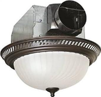 Air King Aklc701 Decorative Quiet Round Bath Fan With Light