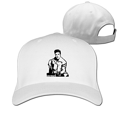 DETED Elvis Presley Guitar Golf Cap Hat White