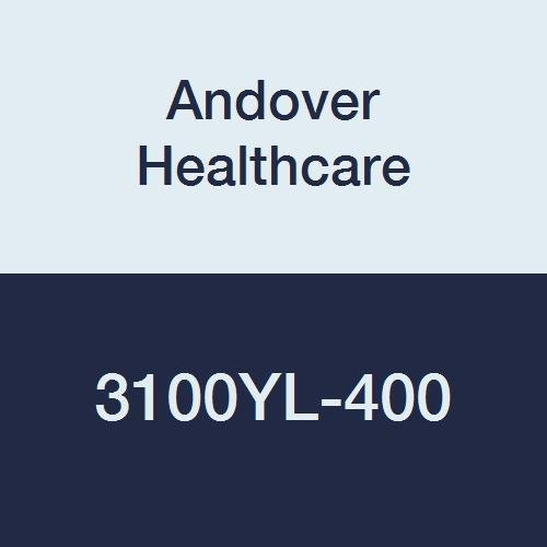 Andover Healthcare 3100YL-400 Coflex Non-Woven Cohesive Self-Adherent Wrap, 15' Length, 1'' Width, Yellow, Latex Bulk (Pack of 400)