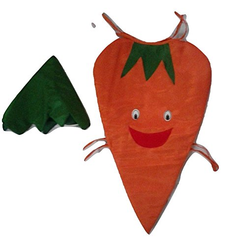 7d333d36be8d Buy WTR Carrot Vegetables Kids Dress (Cutout With Cap) For Fancy Dress  Competitions/School Functions Birthday Gift New Smiley Pattern Online at  Low Prices ...