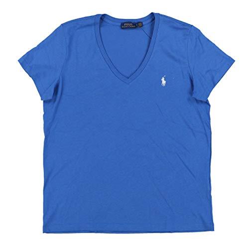 Polo Ralph Lauren Womens V-Neck Jersey T-Shirt (L, Wildflower ()