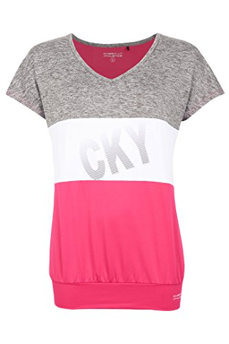 CHEEKI. Pesca a mosca Athletics para mujer LoosefiT-camiseta de Fontainebleau, Rosa, XXL, 10065 rosa - rosa