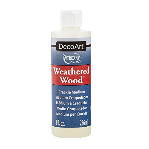 Distressed Paint Finish - DecoArt Americana Mediums, 8-Ounce, Weathered Wood