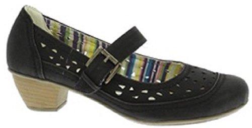 Natrelle Ashling femmes/femme Style Cour Mary Jane Chaussures Noir Taille 4 à 8 travail confortable