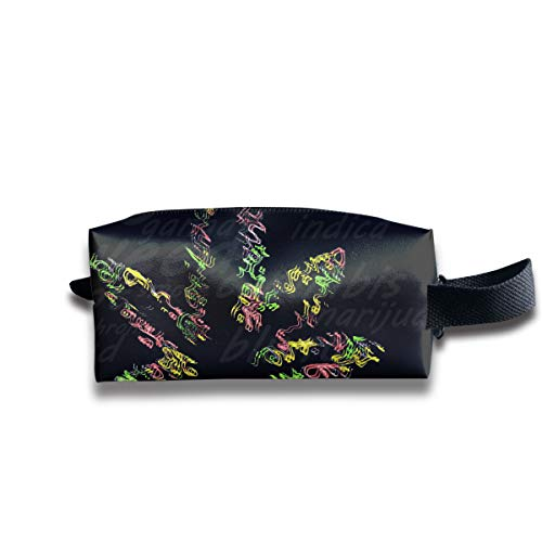 - Psychedelic Overlay Weed Multi-Function Key Purse Coin Cash Pencil Travel Makeup Toiletry Bag Box Case