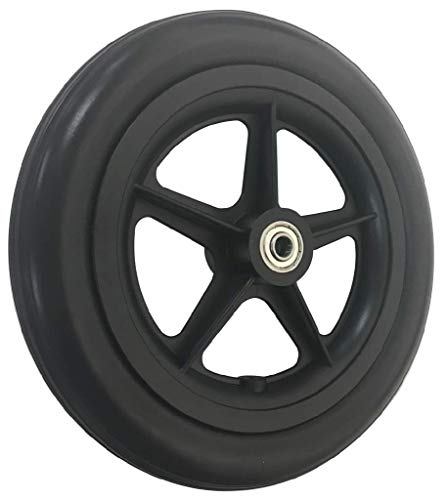 RIANTWHEEL,Wheelchair Caster Wheels, 8''X 1.4'', Solid, with Bearing, PU Tires, one Pair by RIANT WHEEL