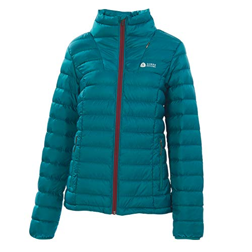 Sierra Designs Women's Sierra DriDown Jacket, 800 Fill Winter Jacket, Large, Teal/Cream