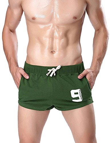 Men's Pants Underwear Janstom Brand Green Athletic Running Tights With Sexy Style For Men (Sexy Men Outfits)
