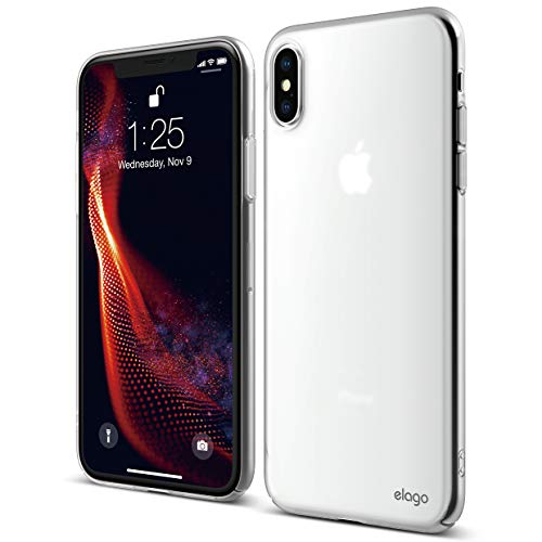 elago Slim Fit Series for iPhone Xs Max Case [Frosted Clear] - [Full Covered][Camera Protection][Support Wireless Charging][Scratch & Minor Drop Protection] for Apple iPhone Xs Max (2018)
