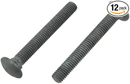 """Carriage Bolt Hot Dipped Galvanized Bolts 3//8/""""-16 x 2-1//2/"""" FT Qty-100"""