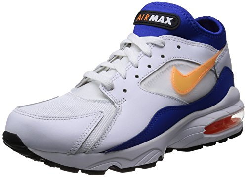 nike Air Max 93 Mens Running Trainers 306551 Sneakers Shoes (UK 10 us 11 EU 45, white bright citrus hyper blue black 100)
