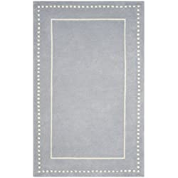 Safavieh Bella Collection BEL151A Handmade Light Blue and Ivory Premium Wool Area Rug (5' x 8')