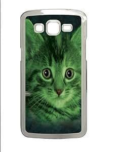 Franken Kitten PC Case Cover for Samsung Grand 2 and Samsung Grand 7106 Transparent