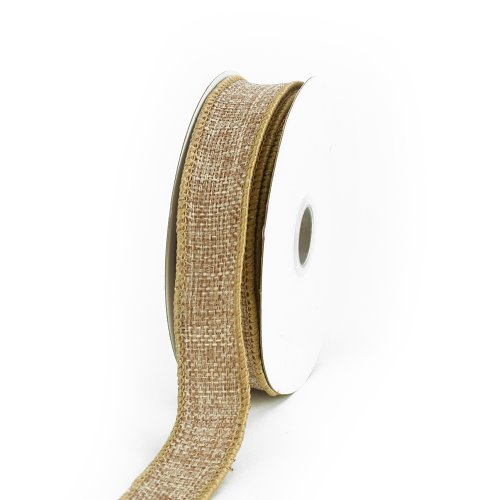 Creative Ideas Jute Ribbon, 7/8-Inch, Toffee