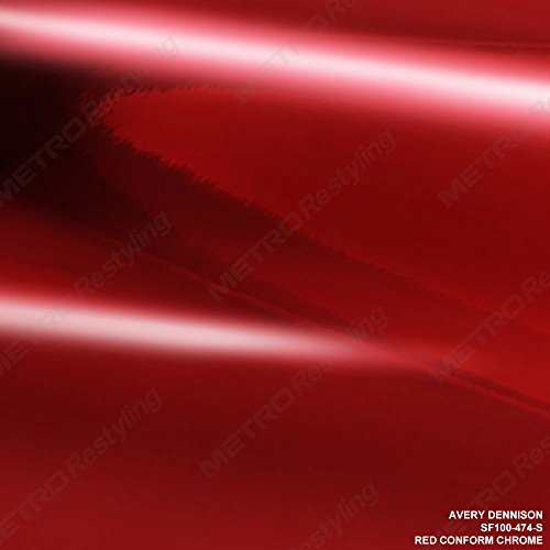 Avery SF100-474-S RED CONFORM CHROME 53in x 60ft (265 Sq/ft) Car Wrap Vinyl Accent Film Mirror ()
