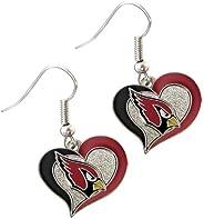 NFL Womens Swirl Heart Earrings