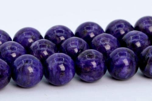 8mm Natural Deep Purple Charoite Beads Grade Round Loose Beads 15.5'' Crafting Key Chain Bracelet Necklace Jewelry Accessories - Pendant Purple Jade