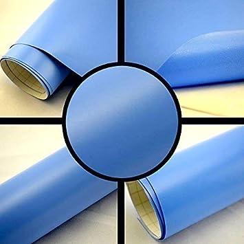 TipTopCarbon 6,57/€//m/² Autofolie Matt Hellblau 1m x 1,52m Auto Folie BLASENFREI mit Luftkan/älen 3D Flex