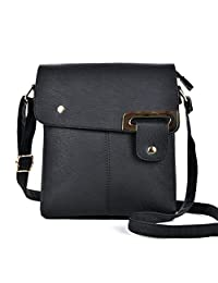 GLITZALL Crossbody Purse Bags Soft PU Leather Small Shoulder Bag For Women (Black)
