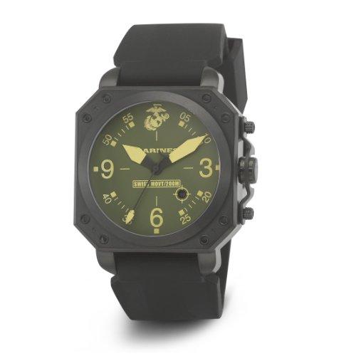 Wrist Armor Men's WA154 C4 Stainless Steel Analog Display Swiss Quartz Watch with Black Silicone Strap